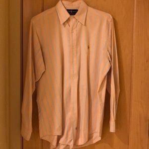 Ralph Lauren peach and blue dress shirt